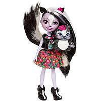 Кукла Скунсик Сейдж и скунс Кaпер  Enchantimals, Enchantimals Sage Skunk Doll, фото 1