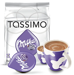 Горячий шоколад Tassimo Milka 16 капсул (8 порц.) Германия (Тассимо), 260г