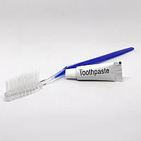 Зубной набор (щетка+паста 3г) в п/е упаковке от 50 шт.