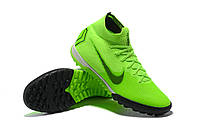 Футбольные сороконожки Nike SuperflyX VI Elite TF Electric Green/Black/Volt, фото 1