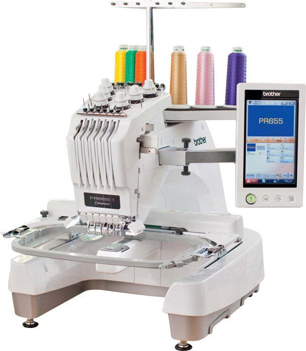 Brother PR-655, шестиигольная профессиональная вышивальная машина с полем вышивки 300 х 200 мм