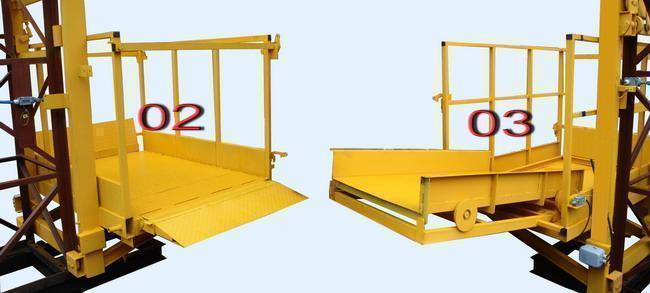 Висота Н-79 метрів. Щогловий підйомник для подачі будматеріалів, будівельні підйомники з висувним лотком 1 т.