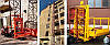 Висота Н-79 метрів. Щогловий підйомник для подачі будматеріалів, будівельні підйомники з висувним лотком 1 т., фото 4