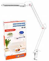 Лампа настольная Delux TF-01 белая