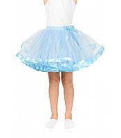 Шикарная для маскарада в школу или садик на утренник фатиновая юбка голубого цвета размер универсал 5-10 лет