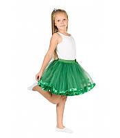 Фатиновая юбка зеленого цвета размер универсал 5-10 лет на маскарад