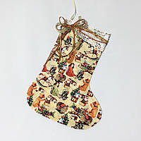 Новогодний носок для подарков №50