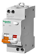 Дифференциальный автоматический выключатель Schneider-Electric АД63 2P (1+N) 25A C, 30mA, 11474 Диф автомат