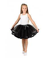 На маскарад фатиновая пышная юбка для девочки 5, 6, 7, 8, 9, 10 лет черный цвет