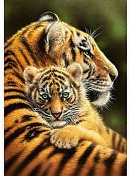 "Алмазная вышивка 40х30см - набор ""Тигрица с малышом 2"""