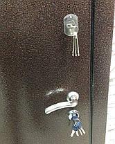 Уличные металлические входные двери Каприз металл/МДФ в дом, фото 3