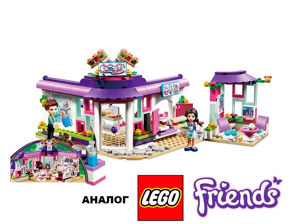 Конструктор JVToy 18003 Арт-кафе Эммы 423 детали (аналог Lego Friends лего), фото 1