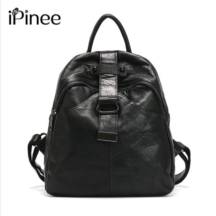 39b1b6353075 Рюкзак женский стильный из натуральной кожи Ipinee (черный)  продажа ...