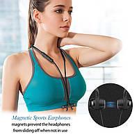 Стерео Блютуз (Bluetooth 4.1) наушник JAKCOMBER X7 без лишних проводов, наушник на магнитах с микрофоном