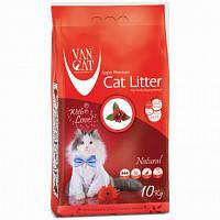 Наповнювач Van cat Ван кет бентонітовий грудкуючийся для котячого туалету Натуралний 20 кг