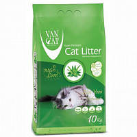 Наповнювач Van cat Ван кет бентонітовий грудкуючийся для котячого туалету з Алое віра 10 кг