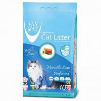 Наповнювач Van cat Ван кет бентонітовий грудкуючийся для котячого туалету з Марсельським милом 10 кг