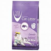 Наповнювач Van cat Ван кет бентонітовий грудкуючийся для котячого туалету з Лавандою 10 кг