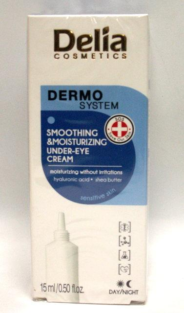 Крем под глаза Delia Cosmetics DERMO SYSTEM Smoothing & Moisturizing Under-Eye Cream разглаживающий и увлажняю