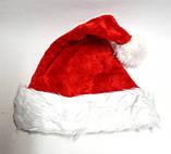 Шапка-колпак новогодняя, красная, фото 2
