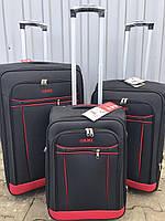 Большой тканевый чемодан Ormi 1318 на 2 колесах черный, фото 1