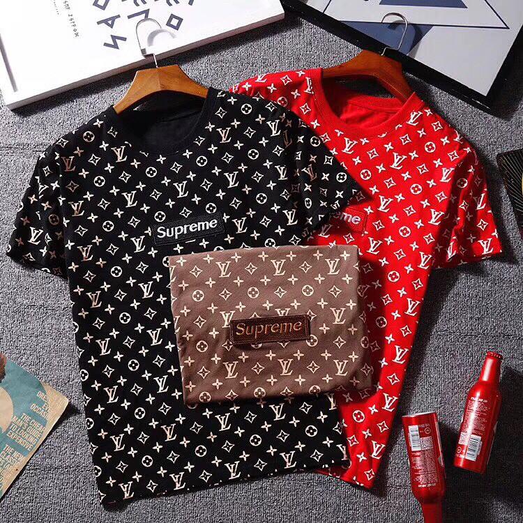 d8b52f9551d0 Мужская футболка Louis Vuitton x Supreme - Люкс реплики брендовых сумок,  обуви в Киеве