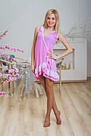 Халат с рюшами розовый, фото 1