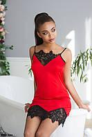 Сорочка женская с кружевом 8002 жан