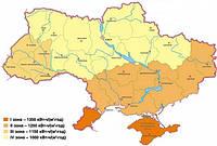 Таблица солнечной инсоляции для городов Украины