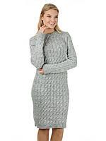 Серое вязаное платье в Украине. Сравнить цены, купить ... 415ed09f5fd