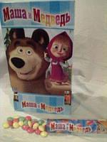 """Шоколадное драже """"Маша и Медведь"""" 24шт, шоколадная радуга, Блок 24 шт."""
