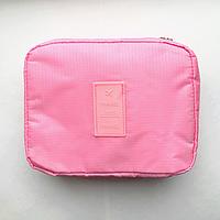 Дорожная косметичка, органайзер для средств личной гигиены (розовая)