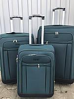 Средний тканевый чемодан Ormi 1318 на 2 колесах зеленый