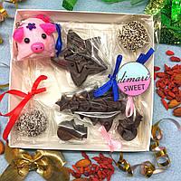 """Подарочный набор Натуральных сладостей для детей и взрослыхБЕЗ сахара. """"Сладкая Свинка 1"""""""