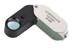Лупа ручная карманная 20x с LED подсветкой MG21001-A
