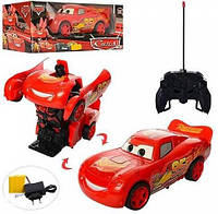 Машинка Трансформер Cars Тачки Молния Маквин на радиоуправлении, на пульте управления, р/у, RD318 010104, фото 1