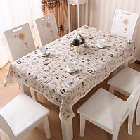 Скатерть на стол из натуральной ткани с принтом, фото 1