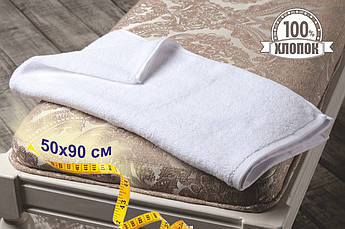 Махровые полотенца Турция, пл.:530 гр./м2, 50х90 см., Цвет: Белый