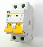 IEK автоматический выключатель 2 полюса 63А