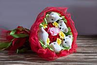 """Праздничный букет из плюшевых мишек """"Улыбка"""""""