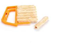 Мягкая щетка для чистки жалюзи с пластиковой ручкой