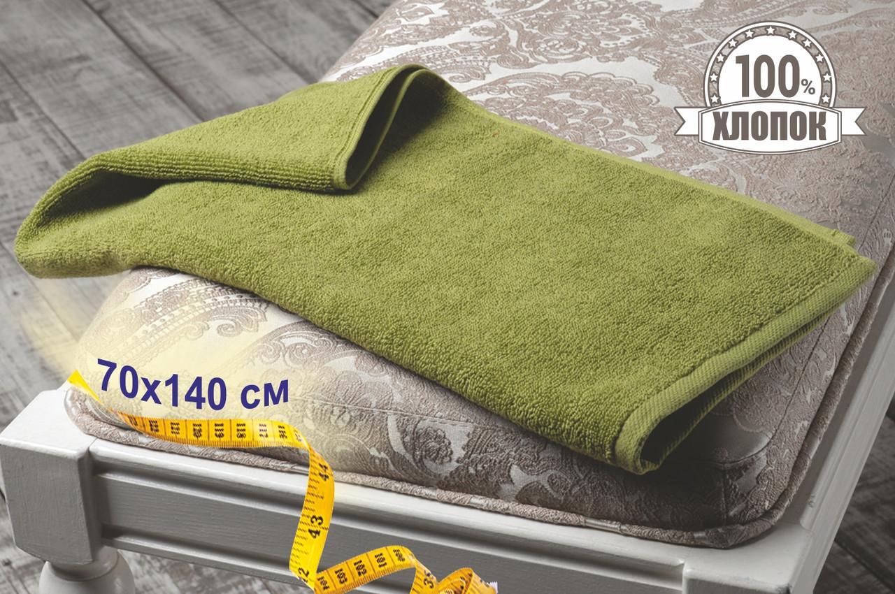 Махровые полотенца Турция, пл.:530 гр./м2, 70х140 см., Цвет: Оливковый