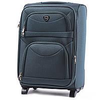 Малый тканевый чемодан Wings 6802 на 2 колесах зеленый
