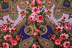 "Павлопосадский шерстяной платок ""Серебро"" размер146х146 см. рис.1243-13, фото 5"