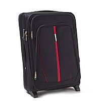 Большой тканевый чемодан Wings 1706 на 2 колесах черный