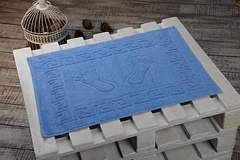 Махровые коврики для ног Турция, пл.:550 гр./м2, 50х70 см., Цвет: Голубой