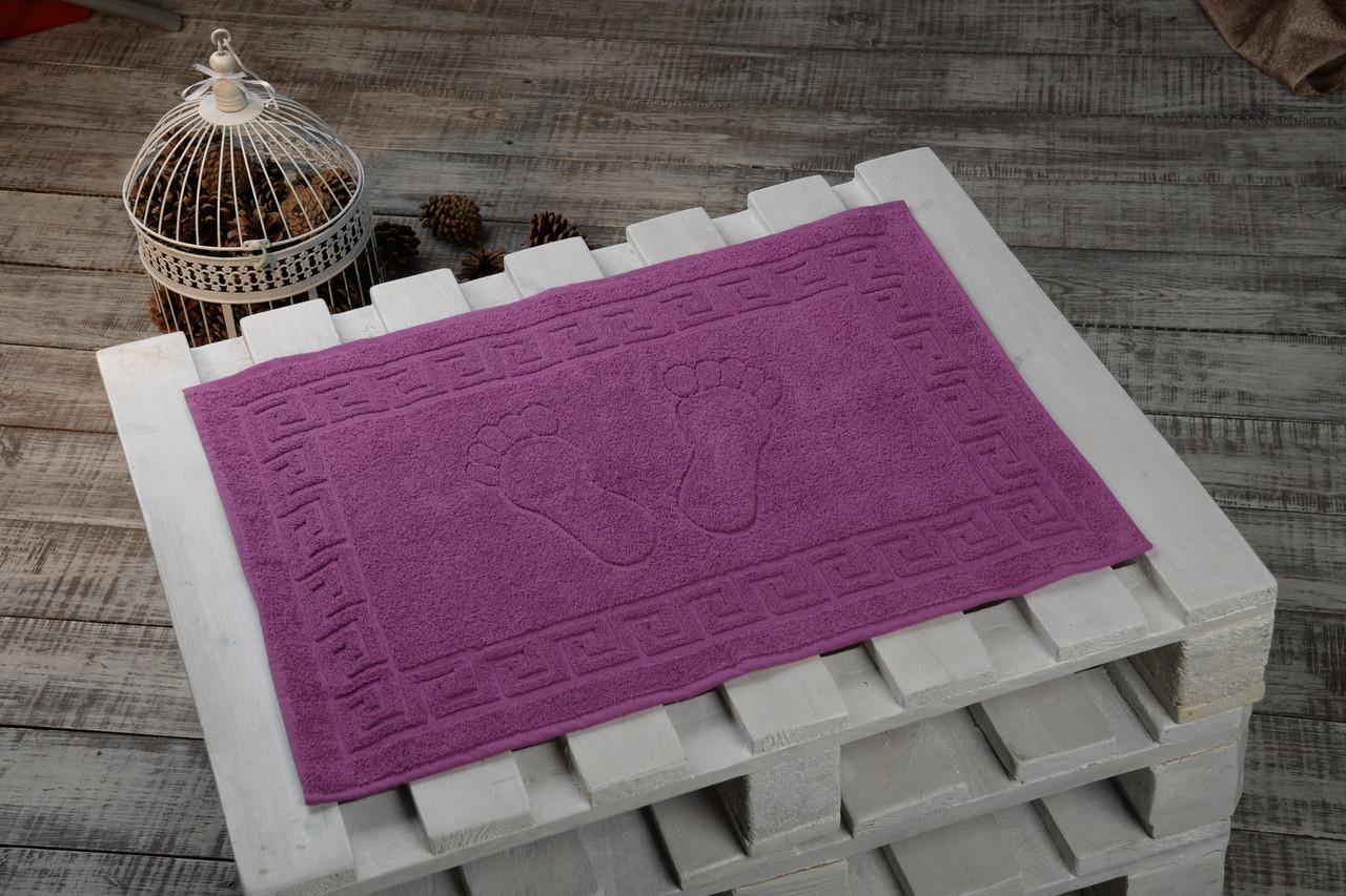Махровые коврики для ног Турция, пл.:550 гр./м2, 50х70 см., Цвет: Лиловый