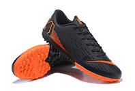 Футбольные сороконожки Nike Mercurial VaporX XII Club TF Black/Total Orange, фото 1