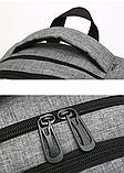 Рюкзак Jumahe міської сірий, фото 7