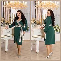 Женское платье в больших размерах с вставками пайетки 10BR1281, фото 1
